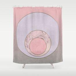 Soft Pastel Elegant Circles Shower Curtain