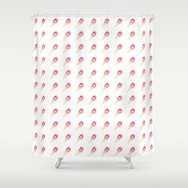 Just Jack Heart Pattern Shower Curtain