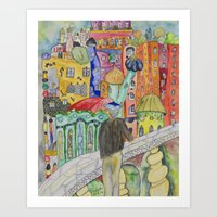 Looking at the town where I would like to live Art Print