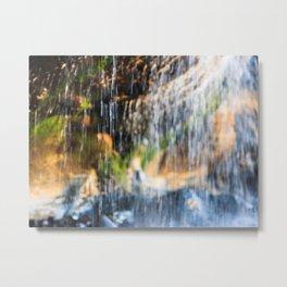 Trickle Waterfall at Otter Crest Beach, Oregon Metal Print