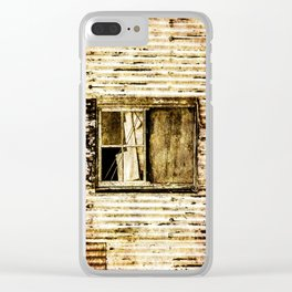 Window in a tin wall Clear iPhone Case