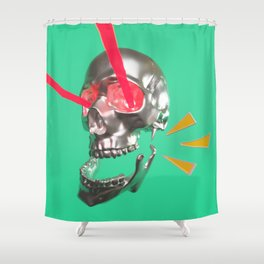 Laser skull Shower Curtain