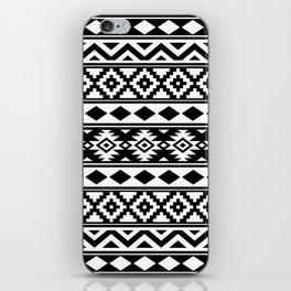 Aztec Essence IIIb Ptn White & Black iPhone Skin