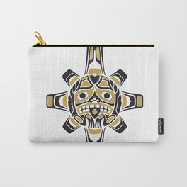 Northwest Pacific American Native Totem In Gold No.3 Carry-All Pouch
