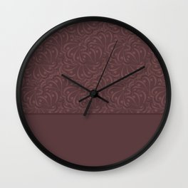Warm , chocolate brown solid pattern . Chocolate . Wall Clock