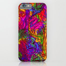 Hot liquid abstract B iPhone Case