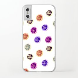 Psychedelic Citruses Clear iPhone Case