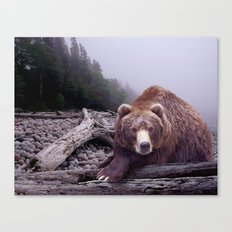 Some Days You Eat the Bear, Some Days the Bear Eats You Canvas Print