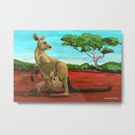 Kangaroos - Day Metal Print