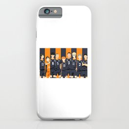 Haikyuu Karasuno Team  iPhone Case