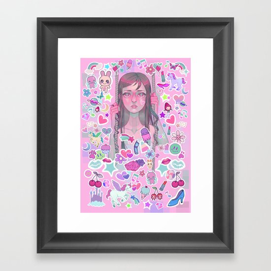 Collect Them All! Framed Art Print