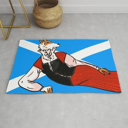 Rough Coat Collie: Scotland- Dogs of the World Collection Rug
