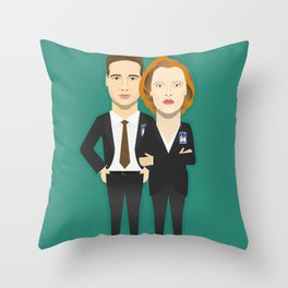 Watching The Detectives #4: Portrait Throw Pillow
