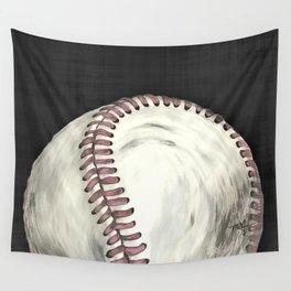 Vintage Baseball Art Wall Tapestry