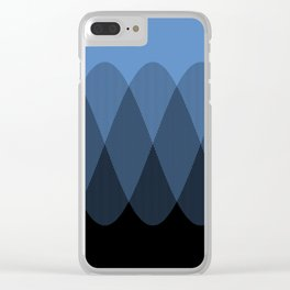 Light blue to Black Ombre Signal Clear iPhone Case