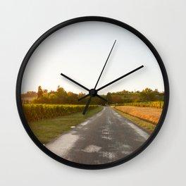 Driving in Bordeaux Wall Clock