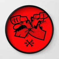 mario bros Wall Clocks featuring Mario & Luigi - BROS by La Manette
