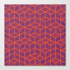 Kenna (Orange and Violet) Canvas Print