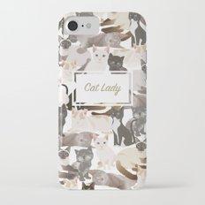 Cat lady iPhone 7 Slim Case