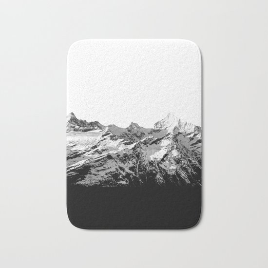 Mountain(black and white) Bath Mat