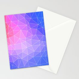 Abstract Colorful Flashy Geometric Triangulate Design Stationery Cards
