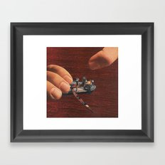 toy boat Framed Art Print