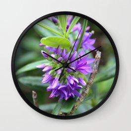Purple Paradise Wall Clock