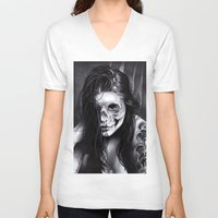 day of the dead V-neck T-shirts featuring Day Of The Dead by leonmorley