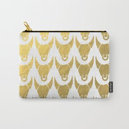 GOLD BULL HEADS ILLUSTRATION PATTERN - SUMMER 2017 Carry-All Pouch