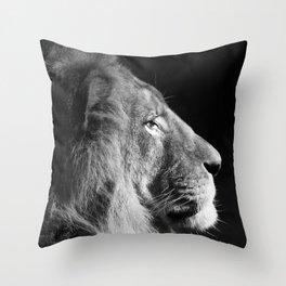 Pretty Kitty in Black & White Throw Pillow