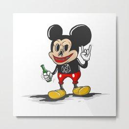 Bad Mickey Metal Print
