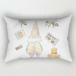 Save The Bees Rectangular Pillow