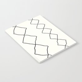 Moroccan Diamond Stripe in Black and White Notebook