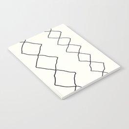 Moroccan Diamond Stripe in Black and White Notebook