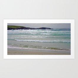 Beach and Waves Art Print