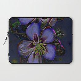 Floral Embosses: Double Columbine 01-02 Laptop Sleeve