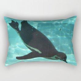 Diving Penguin Rectangular Pillow