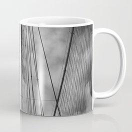 New York - Brooklyn Bridge, Black and White Coffee Mug