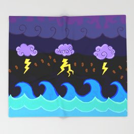 Coffee Storm Throw Blanket
