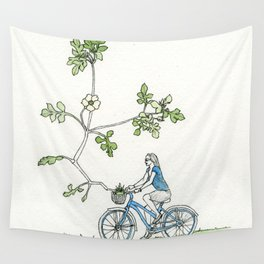 Bicycle Basket Wall Tapestry