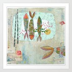 Fishy Feast Art Print