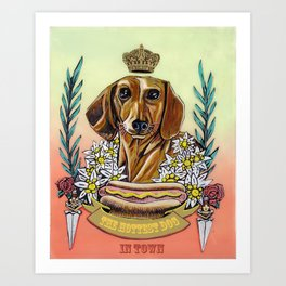 The Hottest Dog In Town Art Print