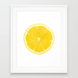 LOVE LEMON Framed Art Print