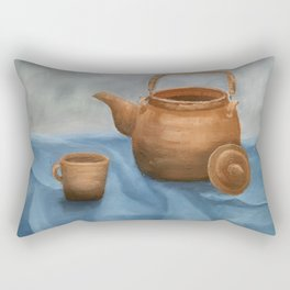 Still life of a coffee pan Rectangular Pillow