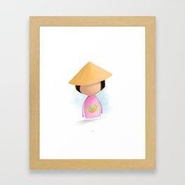 Tiny Human Vietnamese Cultural Dress Framed Art Print