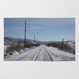 Carol M. Highsmith - Snow Covered Railroad Tracks Rug