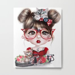 Cat Crazy Chloe - MunchkinZ Elf - Sheena Pike Art & Illustration Metal Print