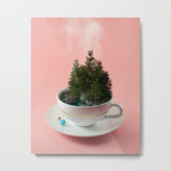 Hot cup of tree Metal Print