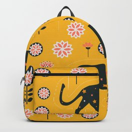 Fantastic jaguars and flowers Backpack