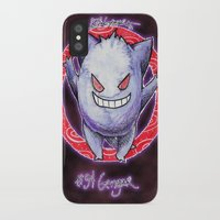 gengar iPhone & iPod Cases featuring 94 - Gengar by Lyxy